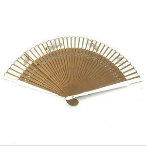 Vintage Wall Art - Vintage Painted Spanish Theme Folding Hand Fan